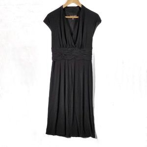 Evan Picone Black Label black ruffled waist dress